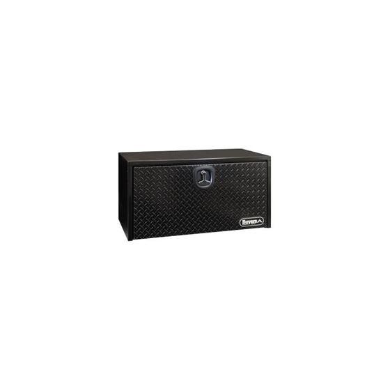 Black Steel Underbody Tool Box with Black Aluminiu