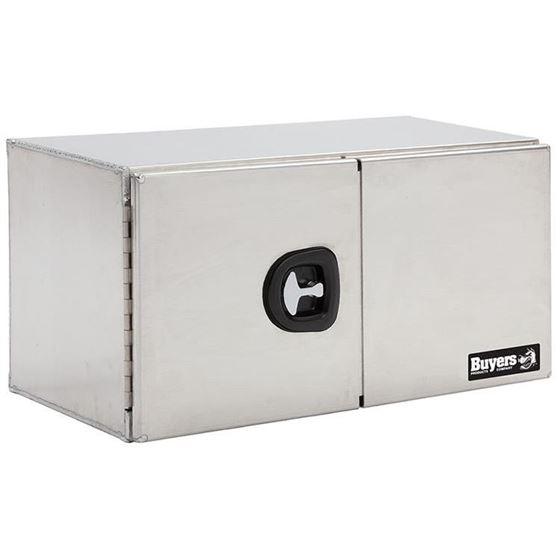 Smooth Aluminium Double Barn Door Tool Box 18 H x